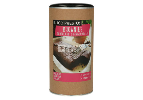 Illico Presto Brownies Chocolat & Pain D'Épice