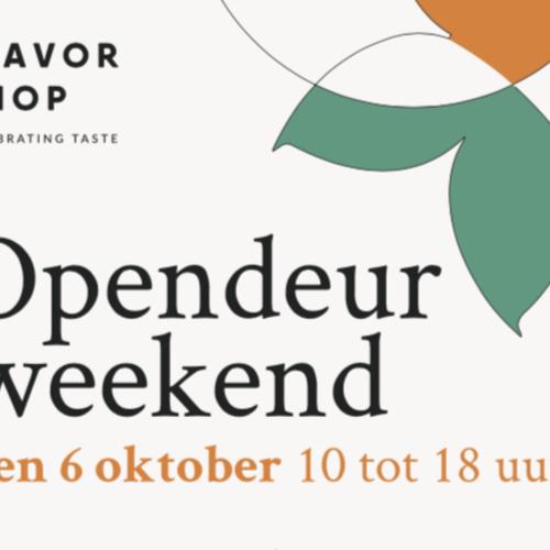 Opendeur Flavor Shop 5 & 6 oktober 2019
