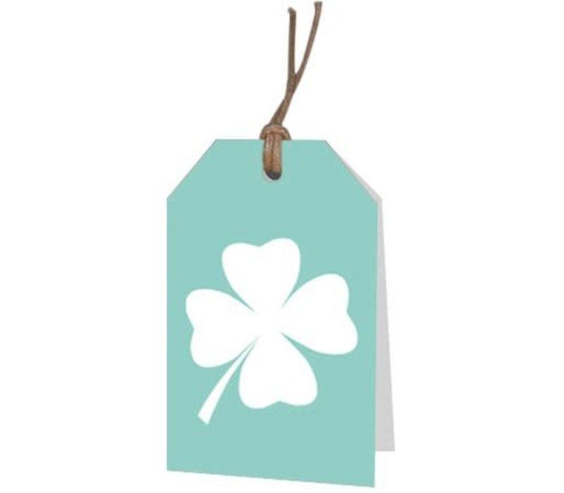 Carte de voeux Trèfle à quatre feuilles