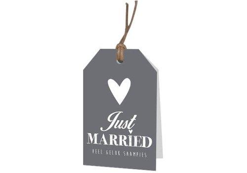Just Married' wenskaartje