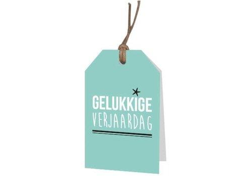 Gelukkige verjaardag Wenskaartje groen (voeg je persoonlijke boodschap toe)