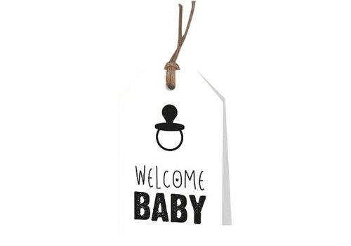Welcome Baby Wenskaartje (voeg je persoonlijke boodschap toe)