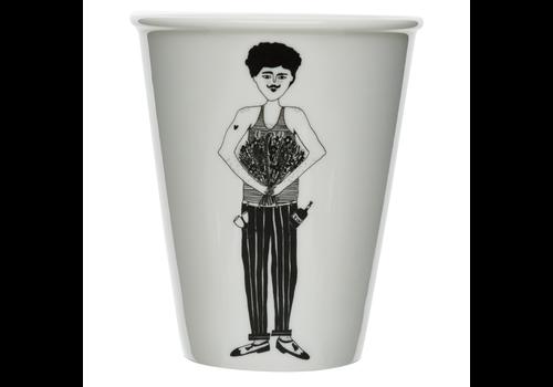 helen b Tasse en porcelaine 'flower man'