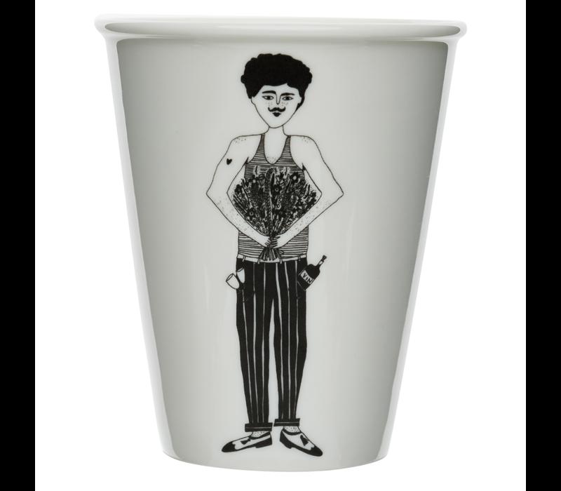 Tasse en porcelaine 'flower man'