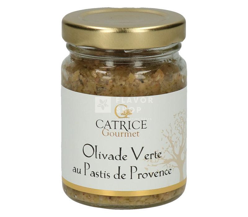 Tapenade d'olives vertes au Pastis de Provence