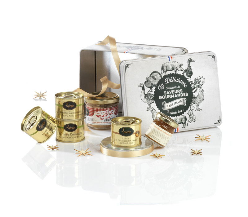 Geschenkdoos 'Les Petits Plaisirs' (foie gras, rillettes & terrine)