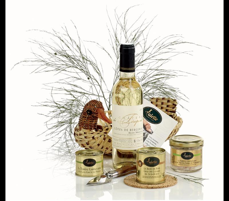 Panier 'Le Canard'  (vin, terrines & foie gras)