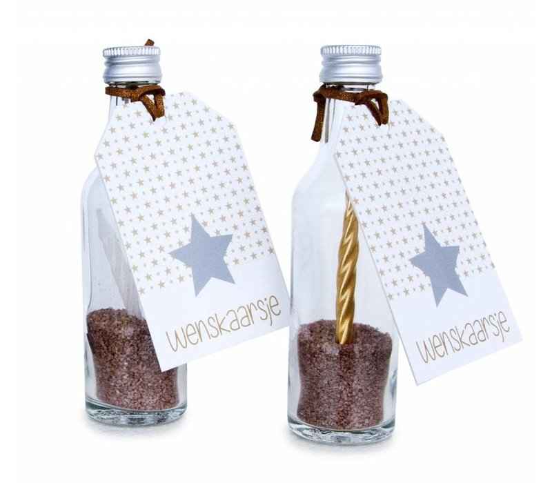 Wenskaarsje - zilveren ster