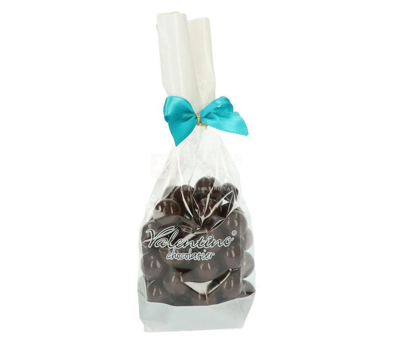 Hazelnoten omhuld met pure chocolade