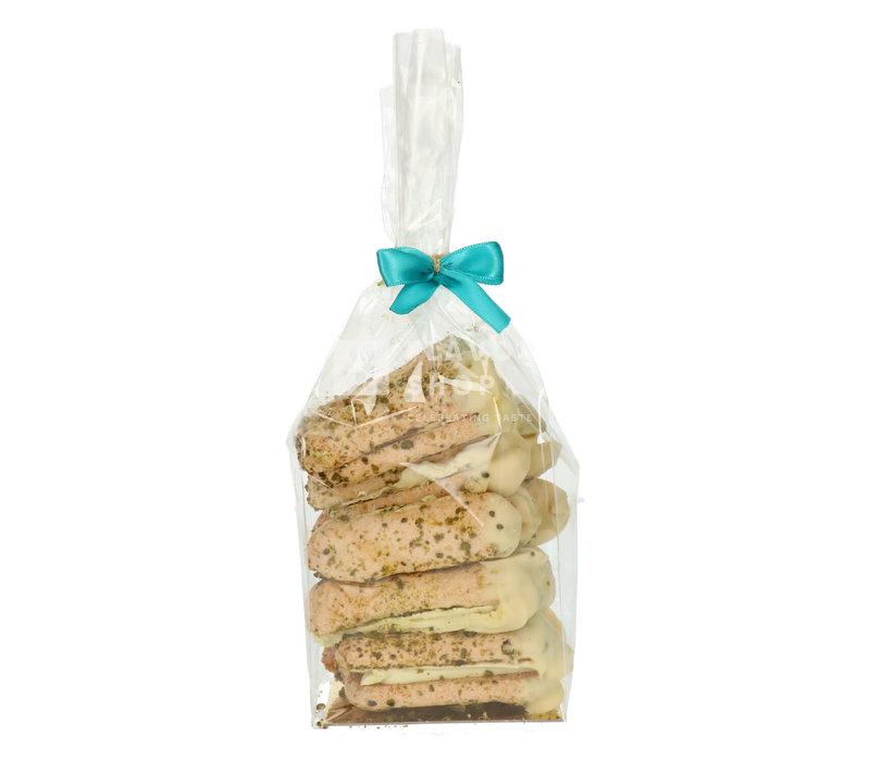 Ambachtelijke Bokkenpootjes - Witte Chocolade & Pistache