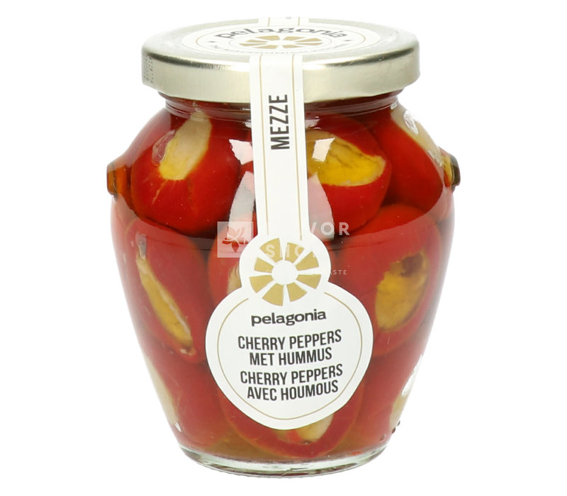 Cherry Peppers met hummus