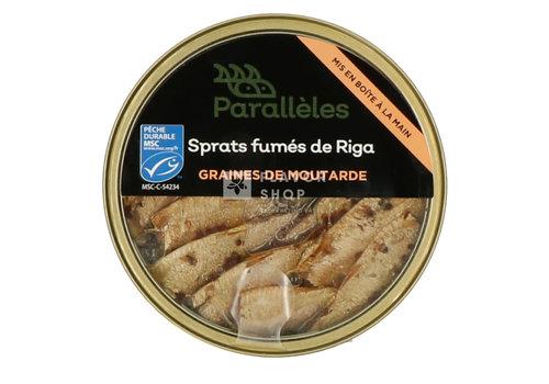 Parallèles Gerookte Sprats met mosterdzaadjes