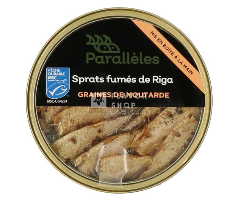 Gerookte Sprats met mosterdzaadjes