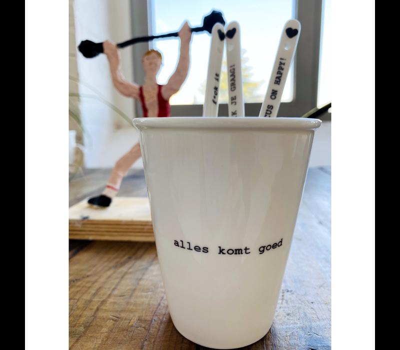 Tasse en porcelaine 'Alles komt goed'
