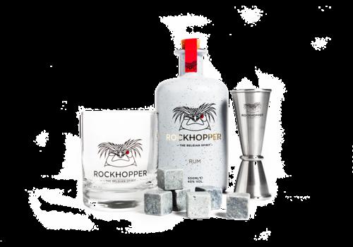 Rockhopper Rum Gift Pack - glass, jigger & stones