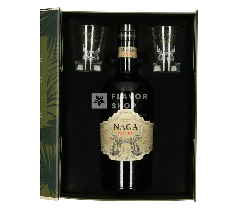 Naga rum + 2 glazen Giftpack
