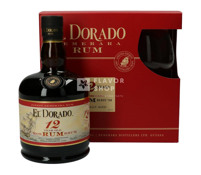 El Dorado Rum 12 Years + Glas Gift Pack