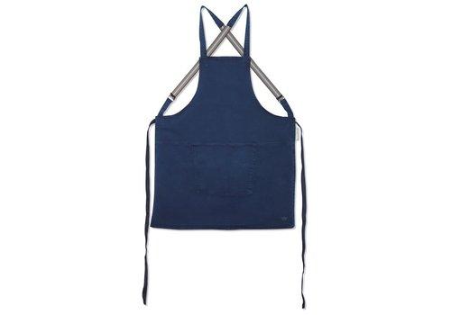 DutchDeluxes Tablier avec bretelles Denim bleu foncé