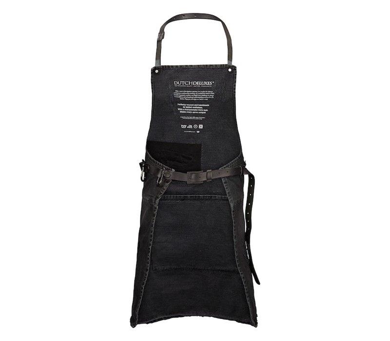 Tablier Barbecue Denim Distressed Noir