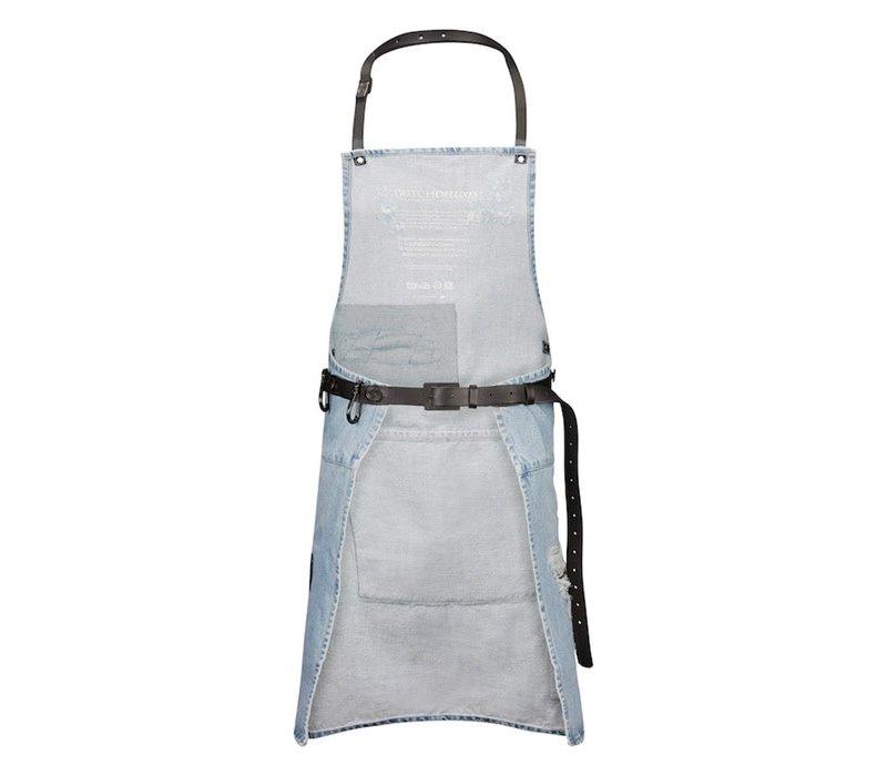 Barbecueschort Distressed Denim Washed Indigo