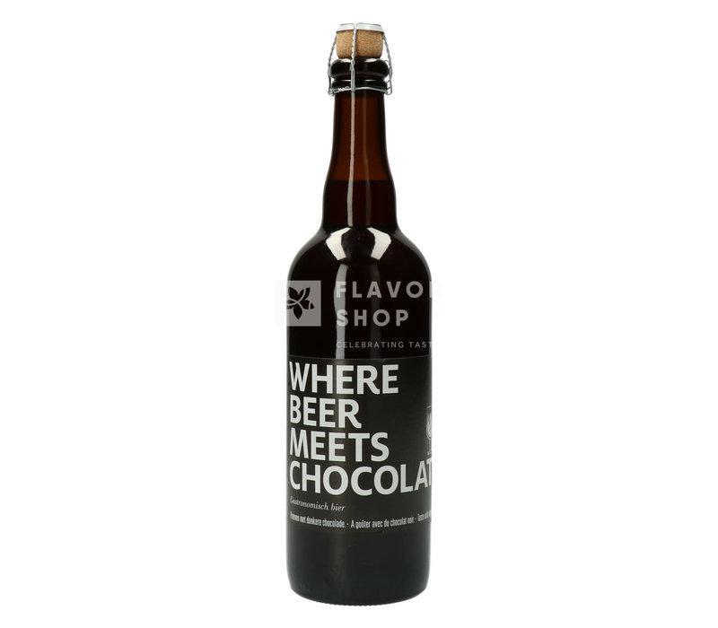Bier 75 cl 'Wherebeermeetschocolate'
