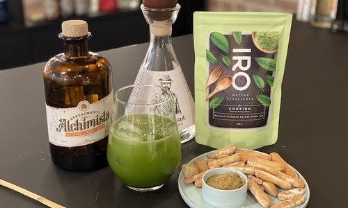 Apero: Matcha Margarita Cocktail + Hapje