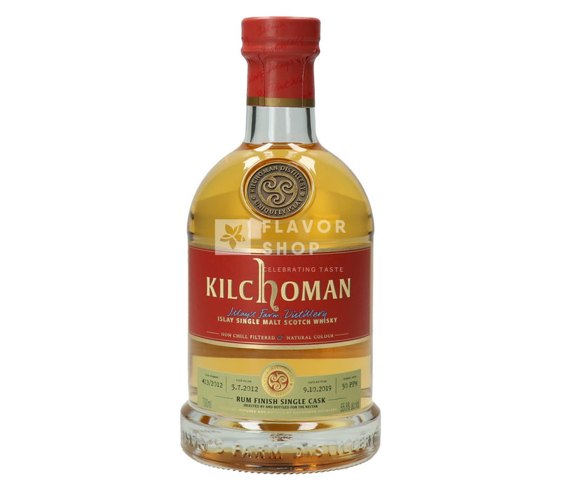 Kilchoman 2012 Rum Finish Single Cask Release Belgium