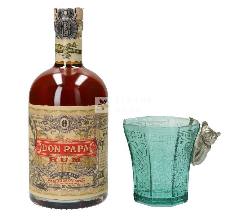 Don Papa Rum + glas Gift Pack