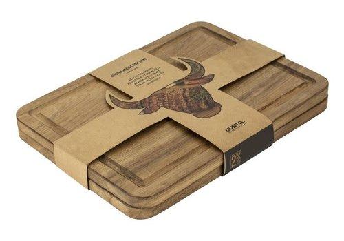 Gusta Acacia Steakbord 2-delig