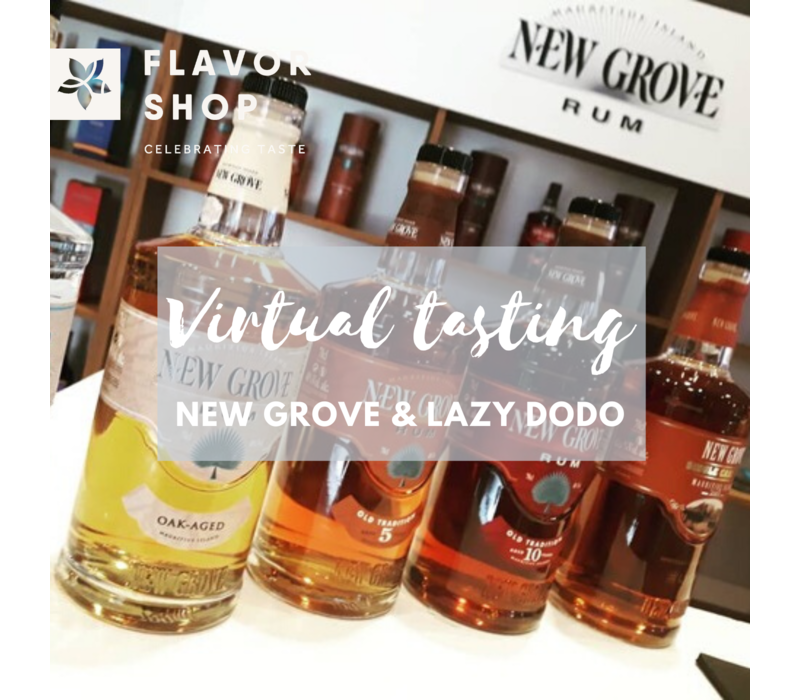 13/08/2020 - Virtual New Grove & Lazy Dodo Rum Tasting