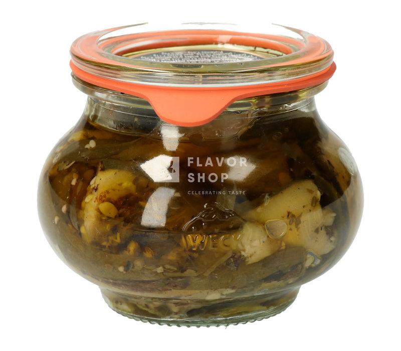 Gegrilde Courgette met olijfolie