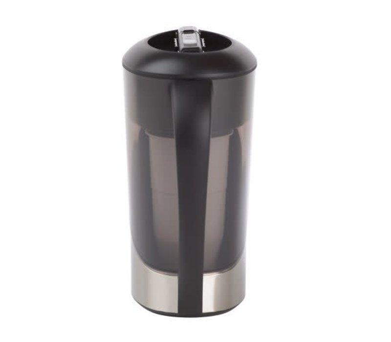Pichet filtre à eau Zero 2,6 L en acier inoxydable