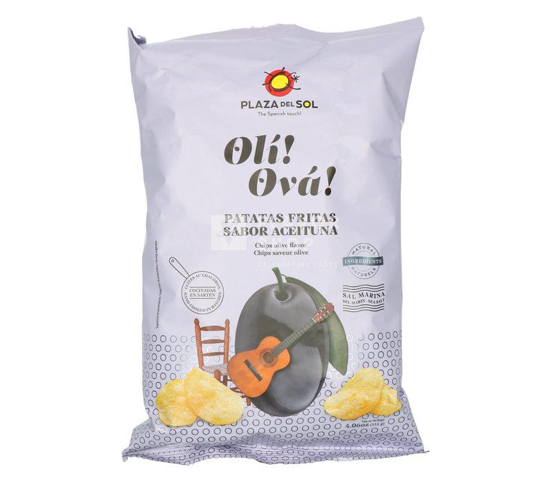 Chips Olí Ová - met zwarte olijvensmaak