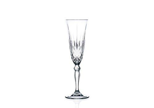 RCR Cristalleria Italiana Champagne Flûte 16 Cl Melodia - 6 stuks