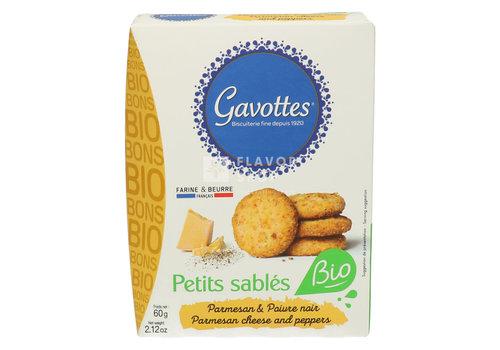 Gavottes Petits sablés Parmezaan & zwarte peper