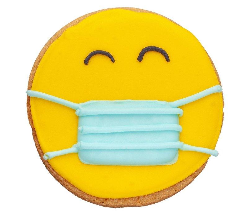 Koekje Smiley met mondmasker