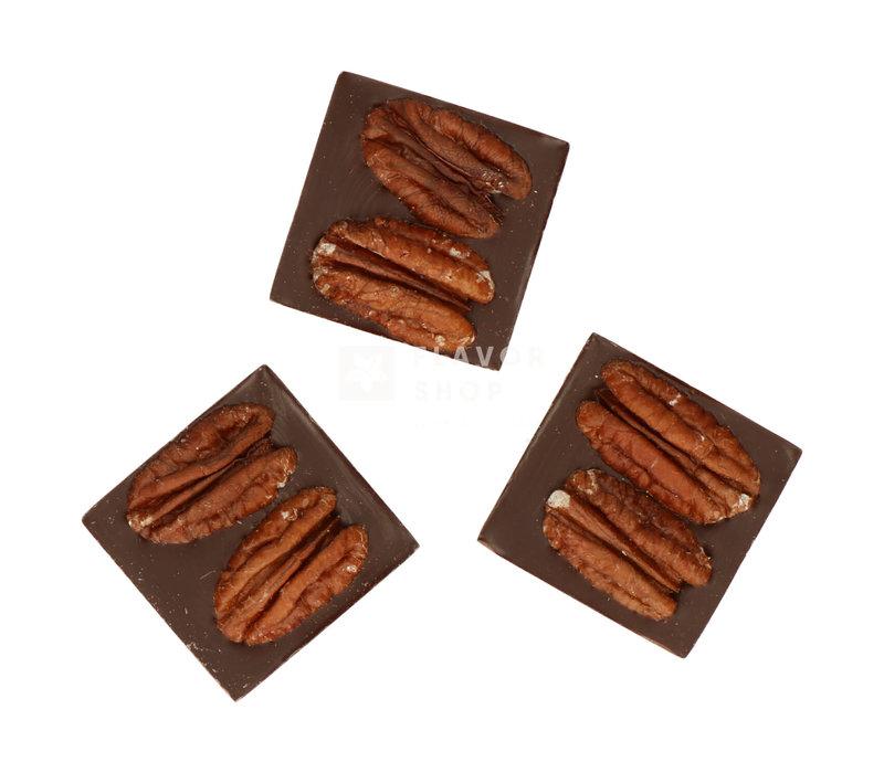 Mini Caraque Pure chocolade met pecannoot
