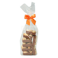 Mini Caraque Melchocolade met cashewnoot