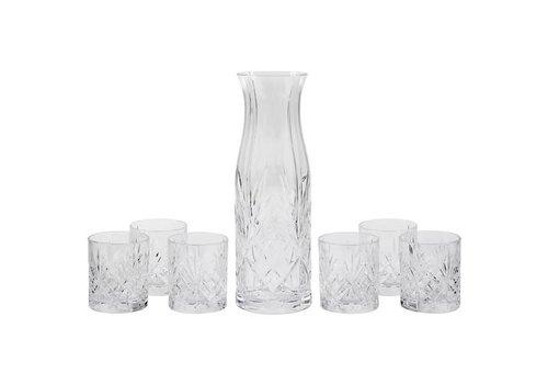 RCR Cristalleria Italiana Set Karaf + 6 glazen Melodia