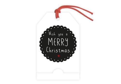 carte de voeux 'Wish You a Merry Christmas' (ajoutez votre message personnel)