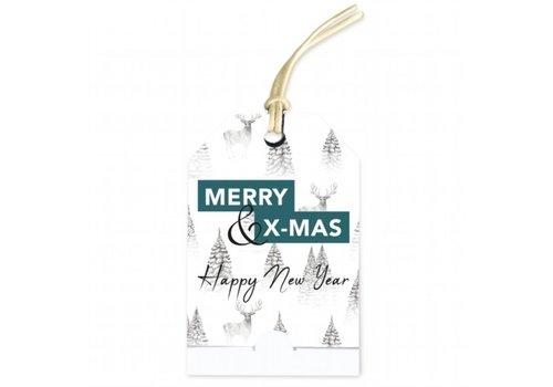 Merry Christmas & Happy New Year' wenskaartje