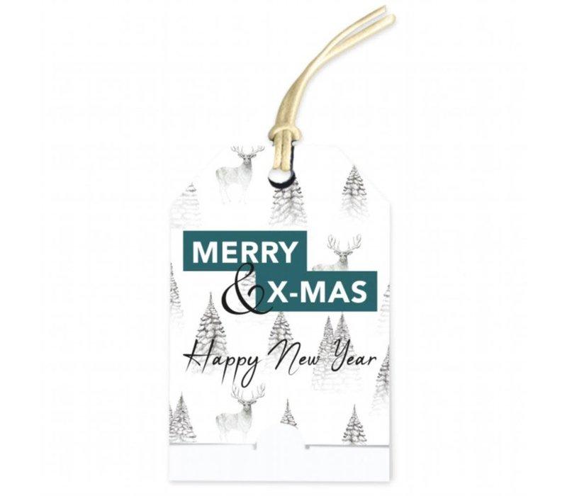 Merry Christmas & Happy New Year Wenskaartje (voeg je persoonlijke boodschap toe)