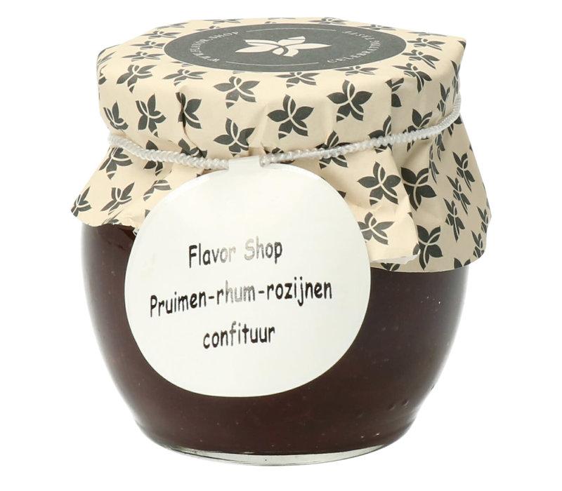 Confiture de Prune, rhum & raisin