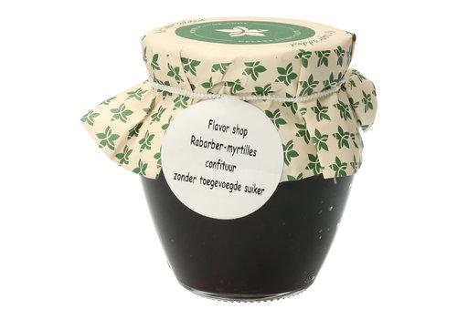 Pure Flavor Rabarber & Myrtilles Confituur 212 ml Suikervrij
