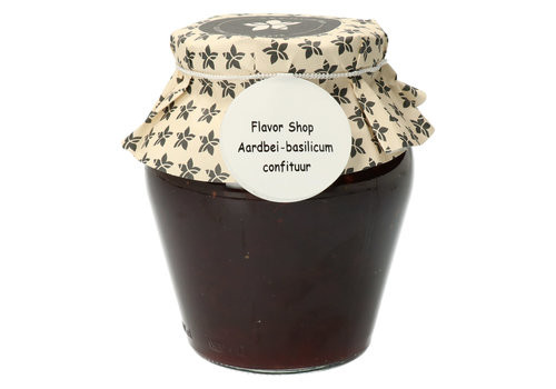 Pure Flavor Aardbei & Basilicum Confituur 375 ml