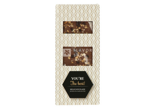 Melkchocolade met bessen en hazelnoten - Tablet - You're the best 80 g