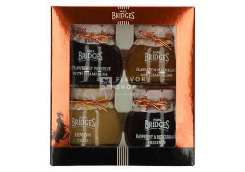 """Mrs Bridges Confituren """"Luxury Selection"""" Mrs Bridges 4 x 113 g"""