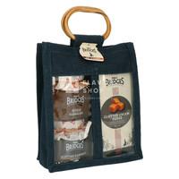 Best of Mrs Bridges - 2 confituren + fudge - Jute geschenkzakje