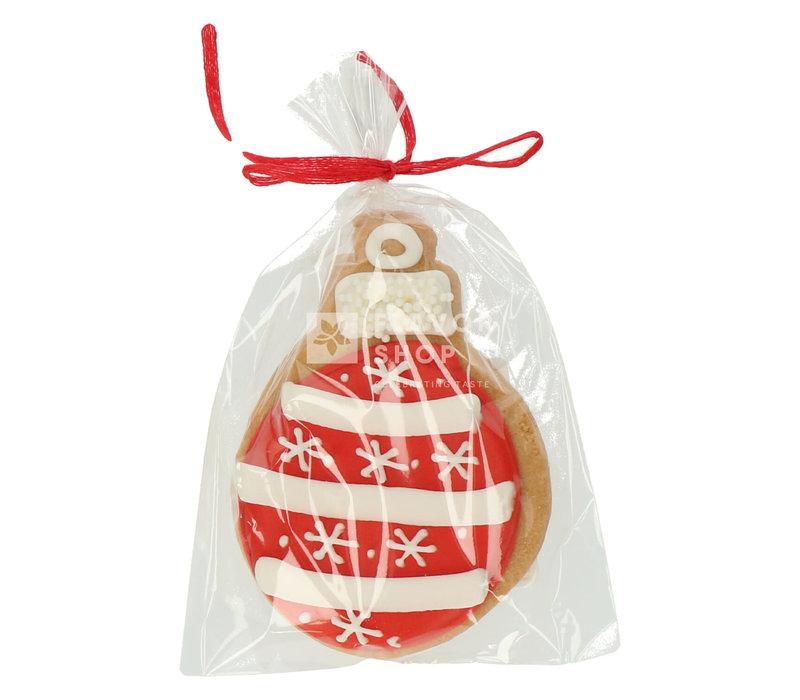 Artisanaal boterkoekje - Rode kerstbal 40 g