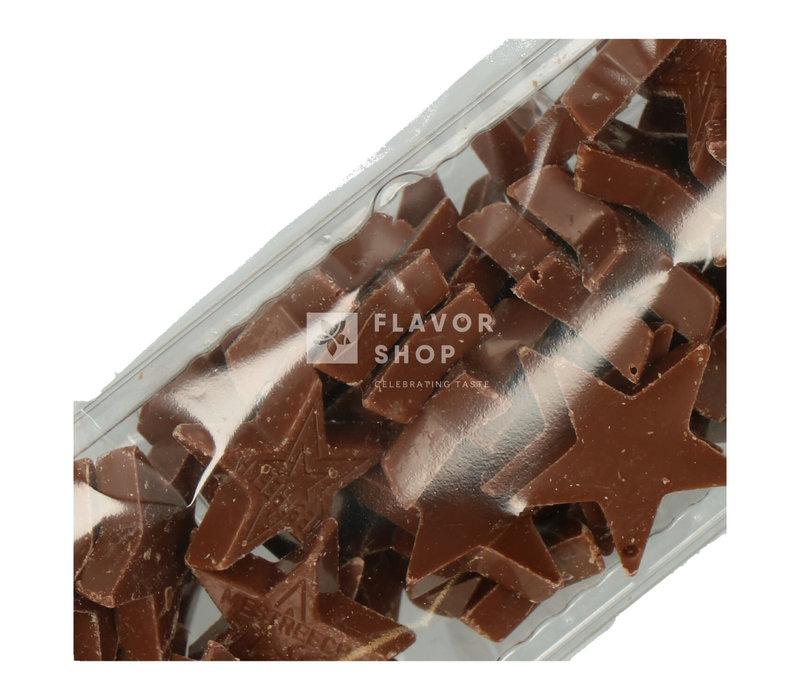 Chocolade Kerststerren - Wit/Zilver - 125 g
